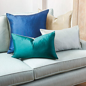 Dupioni Silk & Linen Pillow Cover