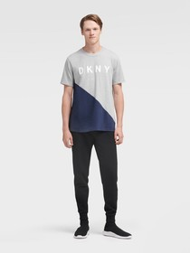 Donna Karan COLOR BLOCK LOGO TEE
