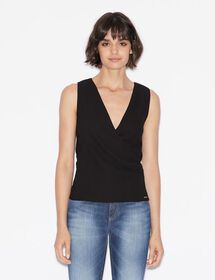 Armani TOP WITH ASYMMETRIC FASTENING
