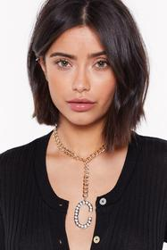 Nasty Gal Womens Gold C-an't You See Diamante Init