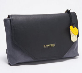"""As Is"" R.Riveter Small Canvas Crossbody - Patton"