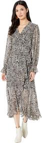 BCBGMAXAZRIA Printed High-Low Dress