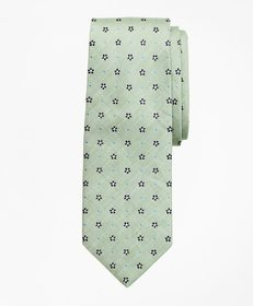 Brooks Brothers Silk and Linen Flower Tie