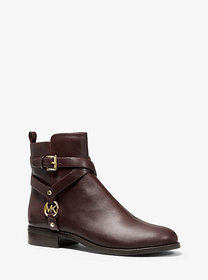 Michael Kors Preston Leather Ankle Boot