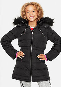 Justice Justice Snow Gear Long Puffer Coat