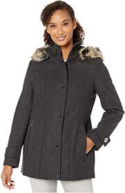 London Fog Layla Wool Blend Parka with Removable H