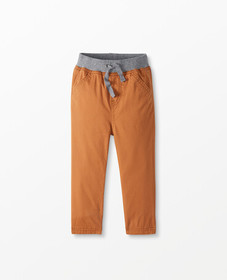 Hanna Andersson Jersey Lined Pants In Peached Twil