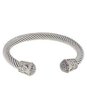 Emma Skye Crystal-Accented Cable Wire Cuff Bracele