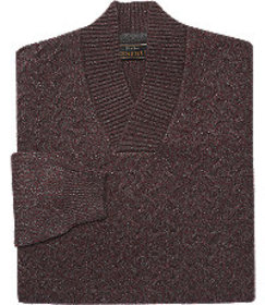 Jos Bank Reserve Collection Split Neck Sweater CLE