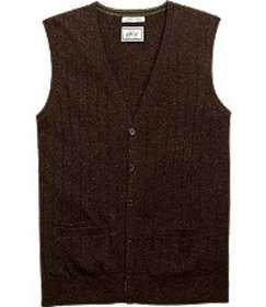 Jos Bank 1905 Ribbed Knit Tailored Fit Sweater Ves