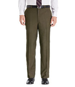 Jos Bank Traveler Collection Tailored Fit Flat Fro on sale at Jos. A. Bank