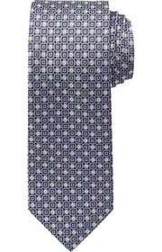 Jos Bank Reserve Collection Micro Check Tie - Long