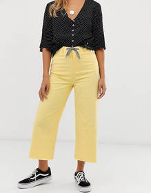 Urban Bliss cropped wide leg jean with rope belt d