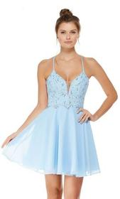 Alyce Paris - 4049 S Lace and Chiffon Cocktail Dre
