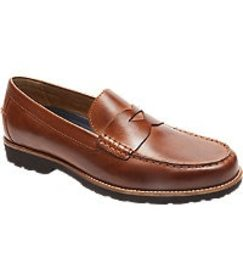 Jos Bank Rockport Style Seeker Penny Loafers CLEAR