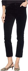 J Brand Ruby High-Rise Crop Cigarette in Black