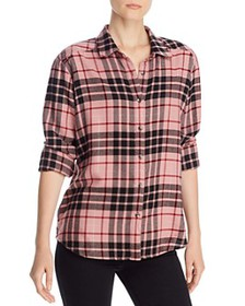 Splendid - Metallic-Plaid Shirt