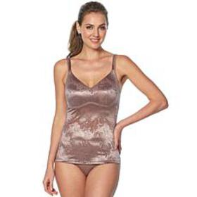 """As Is"" Rhonda Shear Jacquard Molded Cup Camisole"