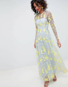 ASOS EDITION embroidered maxi dress