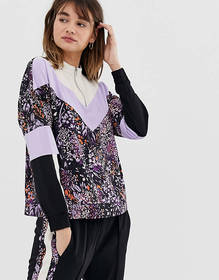 In Wear Hestia contrast floral print track top