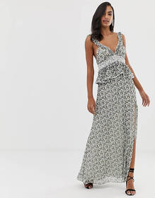 The Jetset Diaries dazed and confused ruffle maxi