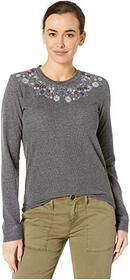Lucky Brand Embroidered Novelty Sweatshirt