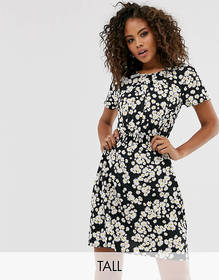 New Look Tall button through tie front tea dress i