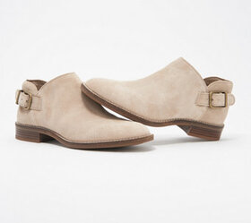 Clarks Collection Leather or Suede Booties - Camzi