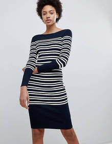 Selected Femme striped knittted cotton midi dress