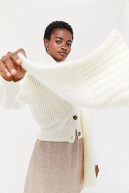 Boucle Knit Scarf