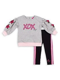 Betsey Johnson Baby Girl's 2-Piece Embroidered Cot