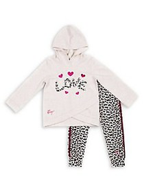 Betsey Johnson Baby Girl's 2-Piece Love Cotton-Ble
