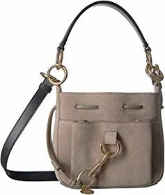 "See by Chloe 8"" Drawstring Leather Crossbody Bag"