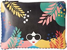 Alice + Olivia Melody Printed Zip Top Clutch