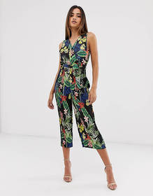 AX Paris floral wrap jumpsuit
