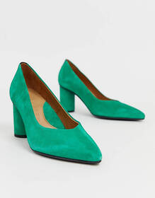Selected Femme pointed pumps with round heel