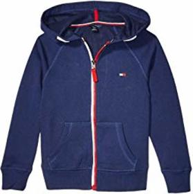 Tommy Hilfiger Kids French Terry Heart Flag Zip-Up