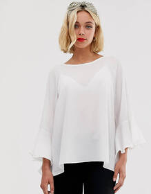 Brave Soul madrid top with sleeve detail