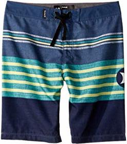 Hurley Kids Outrigger Striped Boardshorts (Big Kid