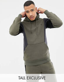 Nicce hoodie in khaki with contrasting panels excl