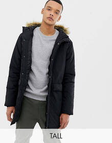French Connection TALL Faux Fur Hood Parka Jacket