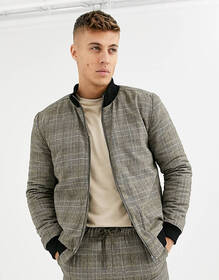 Native Youth wicker plaid bomber TWO-PIECE