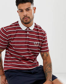 ASOS DESIGN relaxed polo in stripe with roman nume
