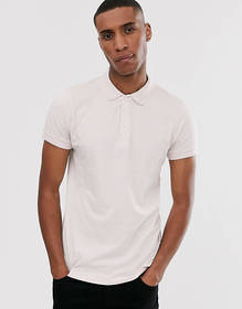 French Connection solid sleeve polo shirt