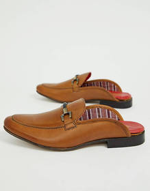 Base London backless loafers in tan
