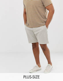 French Connection Plus slim fit peached cotton chi