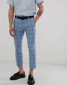 Twisted Tailor tapered cropped suit pants in check