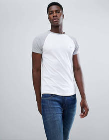 French Connection Contrast Sleeve Raglan T-Shirt