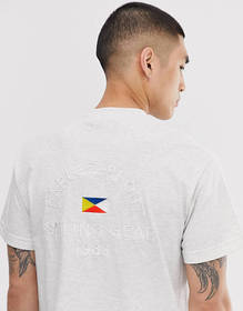 Parlez Klipper t-shirt with printed back in gray