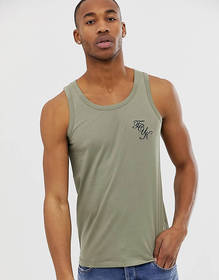 French Connection muscle fit FCUK logo tank